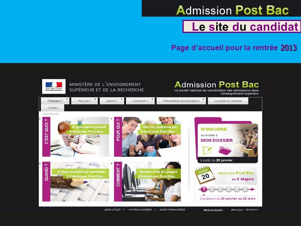 Le site du candidat 2013 Page daccueil pour la rentrée 2013 2215