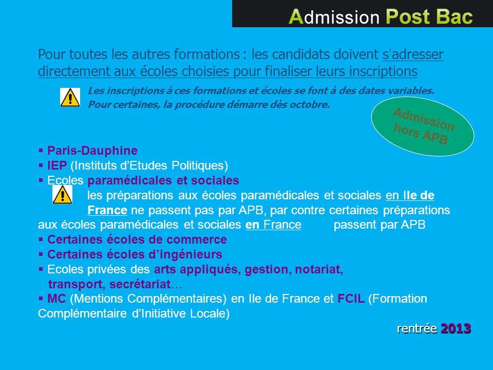 Paris-Dauphine IEP (Instituts dEtudes Politiques) Ecoles paramédicales et sociales les préparations aux écoles paramédicales et sociales en Ile de Fra