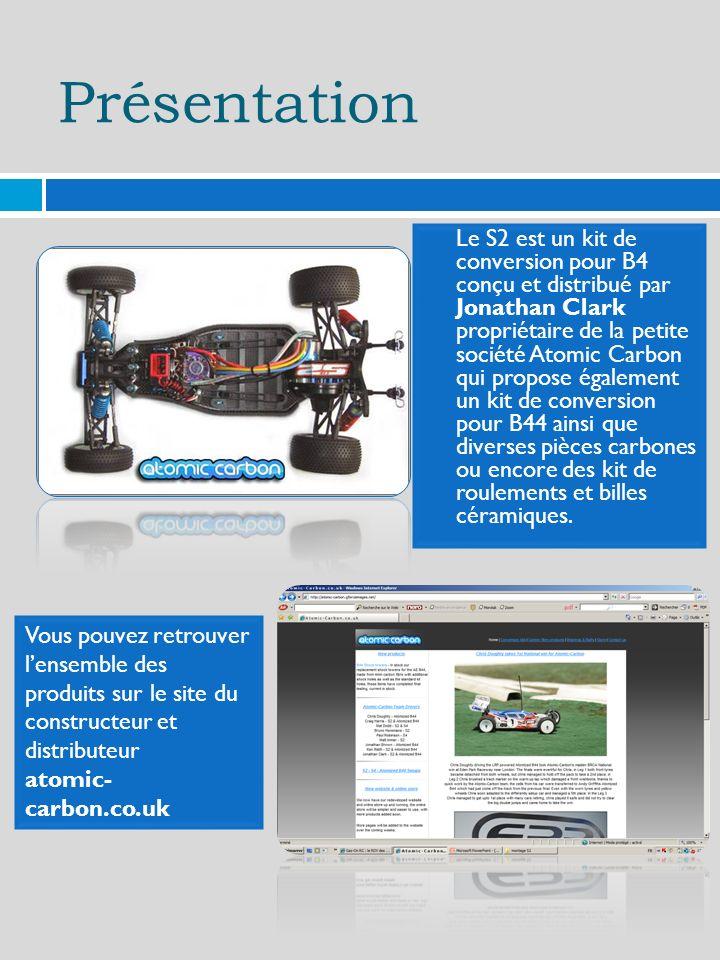 Présentation Le S2 est un kit de conversion pour B4 conçu et distribué par Jonathan Clark propriétaire de la petite société Atomic Carbon qui propose