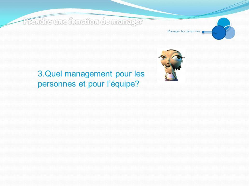 Manager les personnes 3.Quel management pour les personnes et pour léquipe?