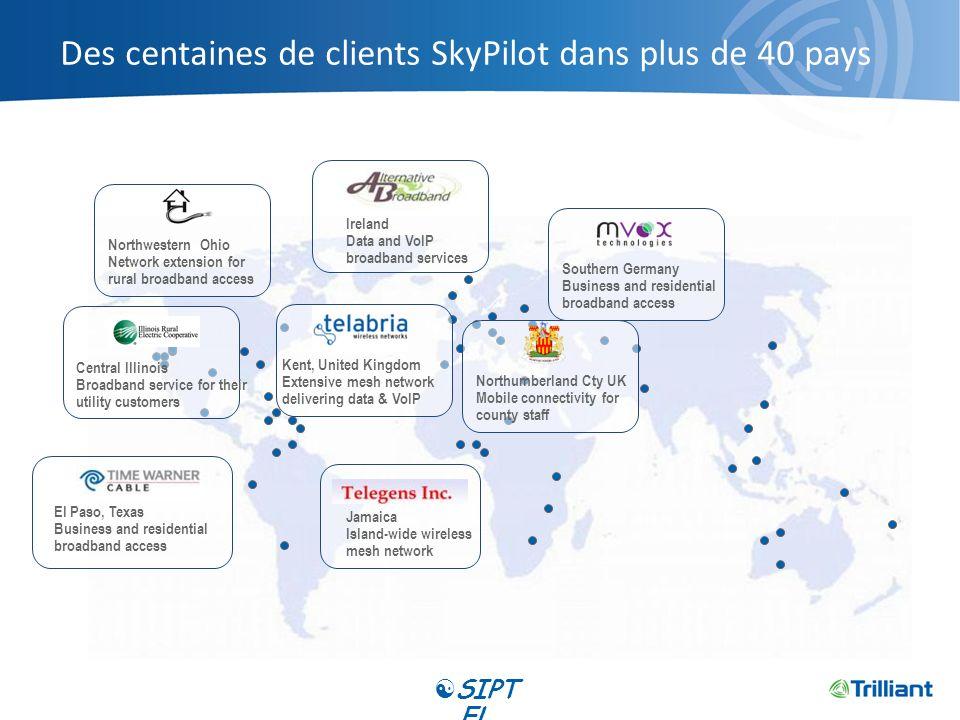 Des centaines de clients SkyPilot dans plus de 40 pays El Paso, Texas Business and residential broadband access Ireland Data and VoIP broadband servic