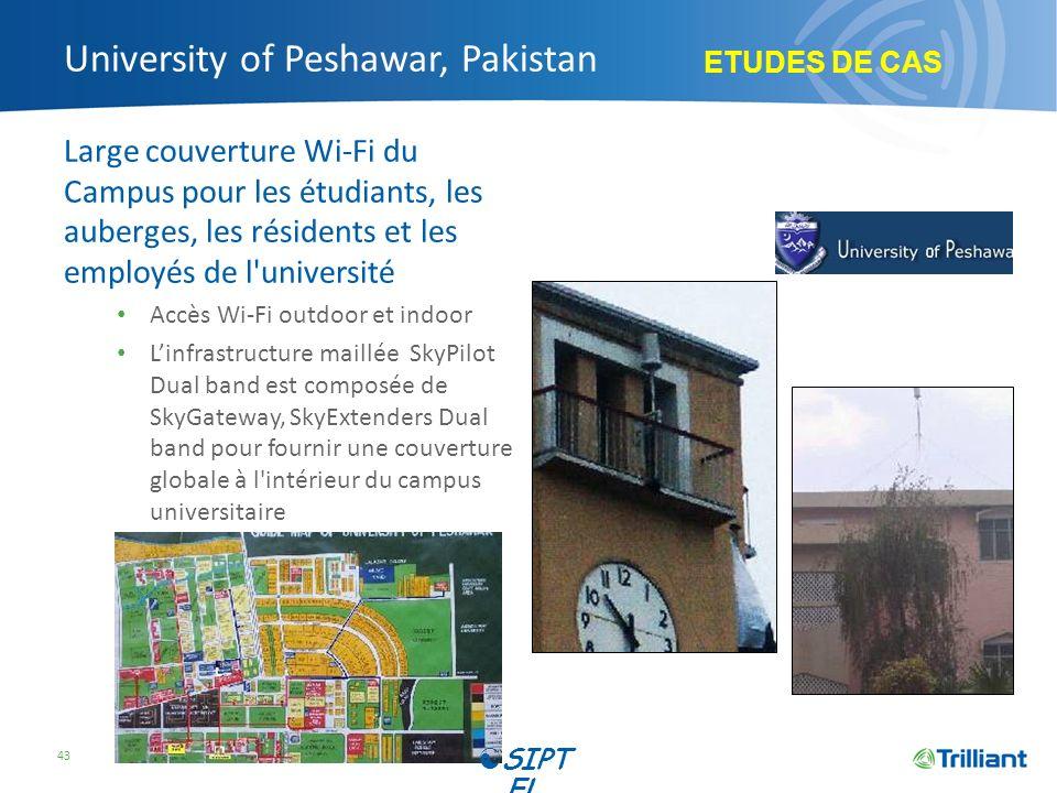 University of Peshawar, Pakistan Large couverture Wi-Fi du Campus pour les étudiants, les auberges, les résidents et les employés de l'université Accè