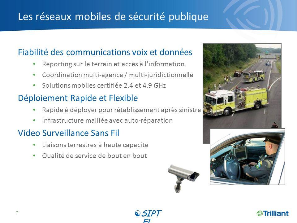 Les réseaux mobiles de sécurité publique Fiabilité des communications voix et données Reporting sur le terrain et accès à linformation Coordination mu