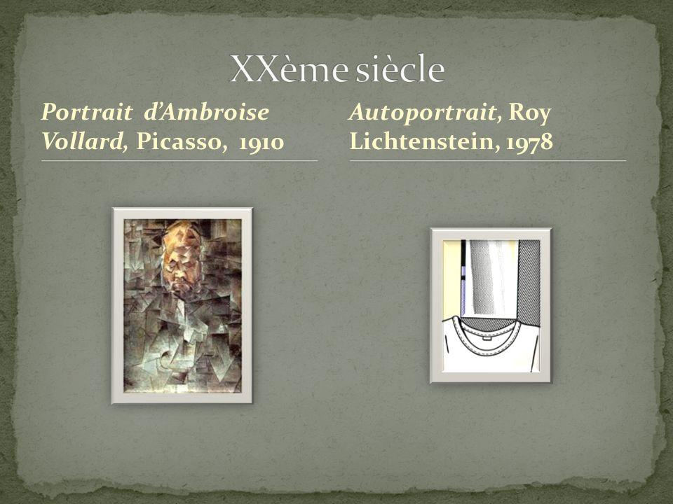 Portrait dAmbroise Vollard, Picasso, 1910 Autoportrait, Roy Lichtenstein, 1978