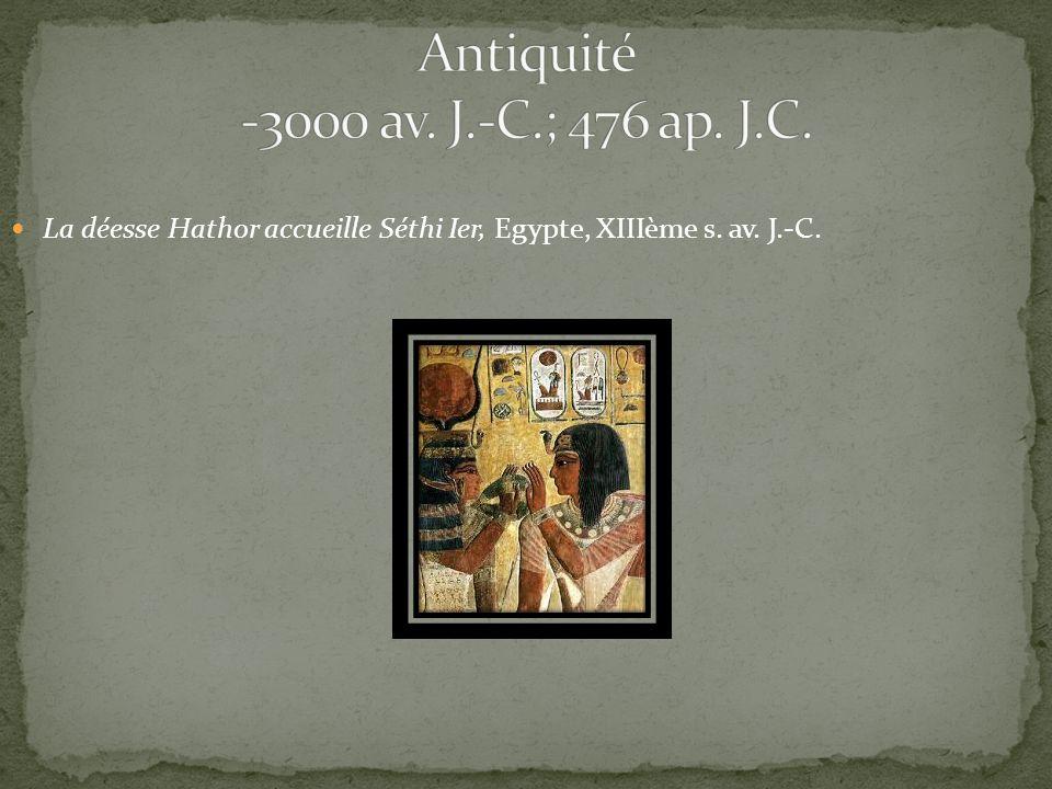La déesse Hathor accueille Séthi Ier, Egypte, XIIIème s. av. J.-C.
