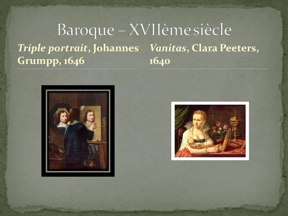 Triple portrait, Johannes Grumpp, 1646 Vanitas, Clara Peeters, 1640