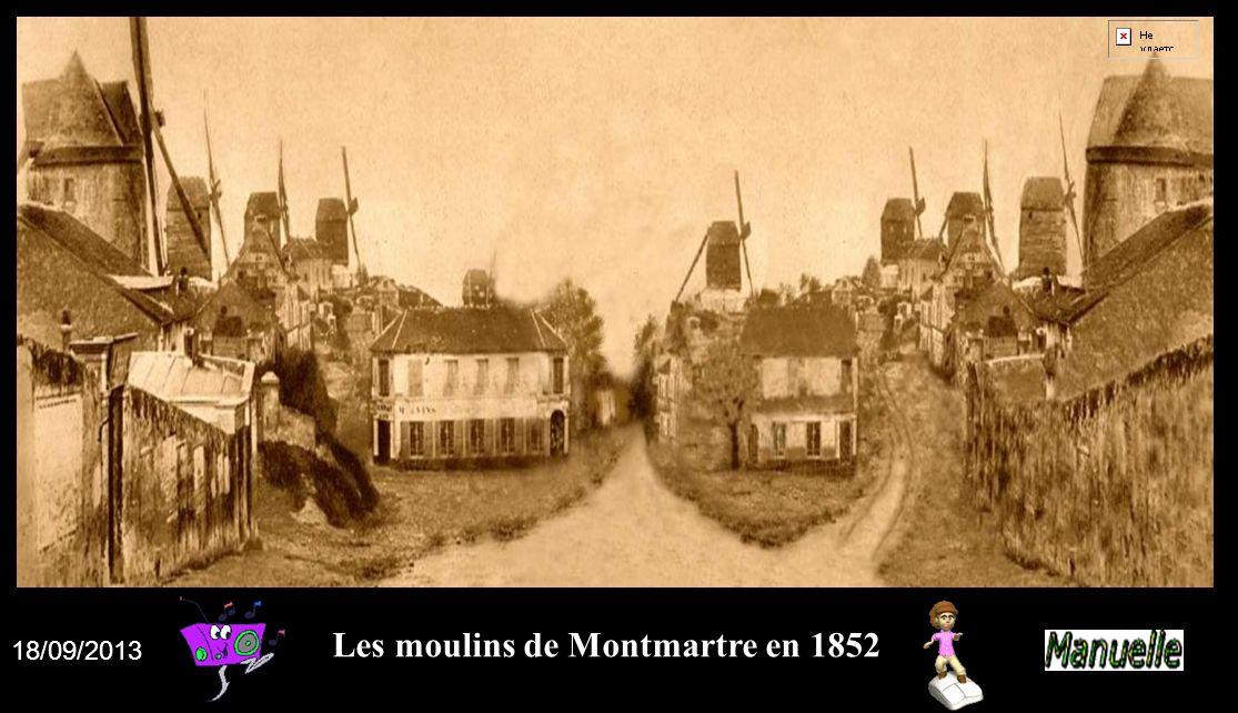 Les moulins de Montmartre en 1852 18/09/2013