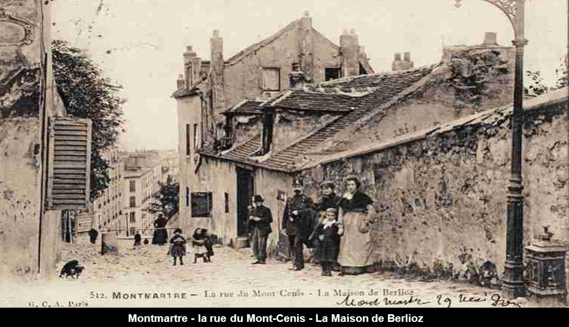 Montmartre - la rue du Mont-Cenis - La Maison de Berlioz