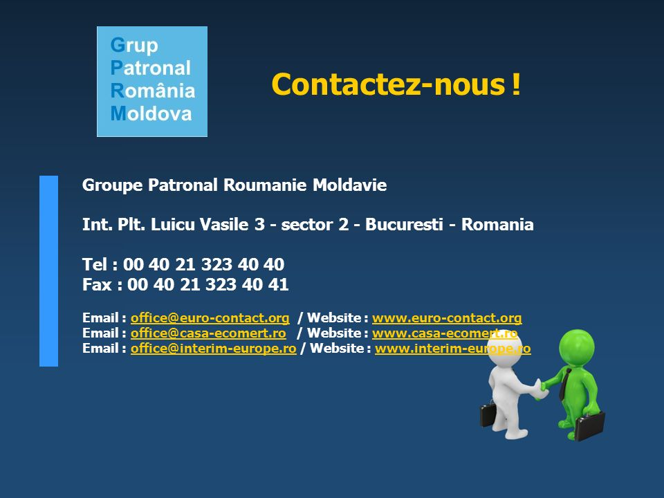 Groupe Patronal Roumanie Moldavie Int. Plt.