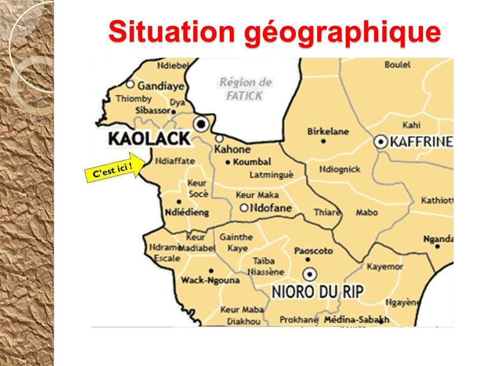 NDIAFFATE DAKARDAKAR Situation géographique Cest ici !
