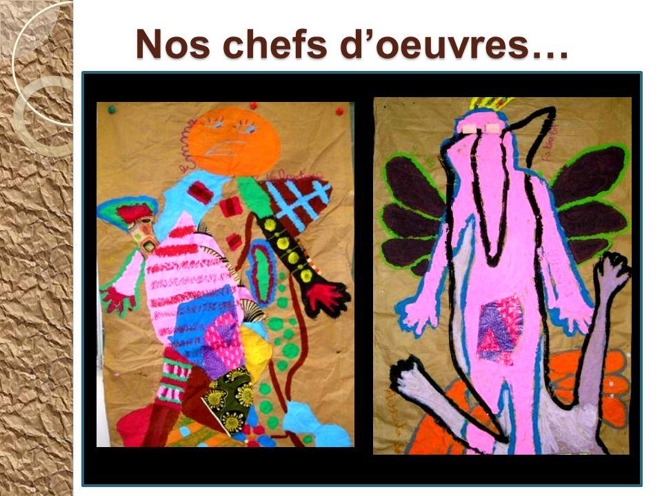 La fabrication doiseaux en papier Avec les deux maîtresses, nous avons fabriqué de grands oiseaux imaginaires. Nos correspondants devaient se coucher
