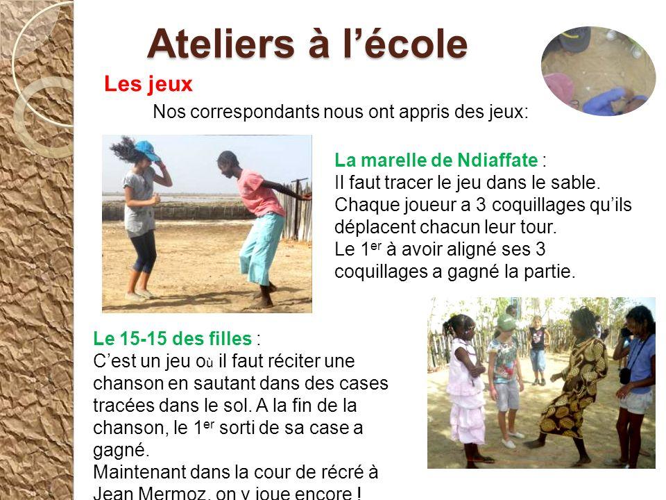 Le 2 ème jour, nous nous sommes réunis dans la classe de nos correspondants pour faire nos exposés sur les oiseaux de Dakar et de Ndiaffate. Cétait di