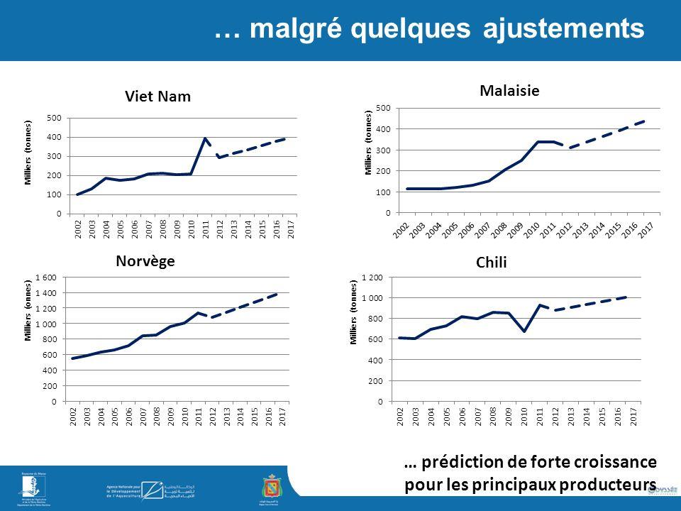 simaje … malgré quelques ajustements … prédiction de forte croissance pour les principaux producteurs