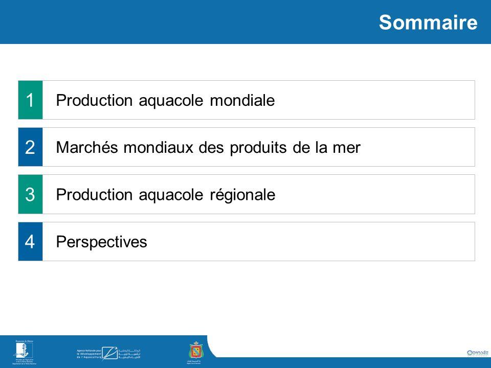 Production aquacole mondiale Production aquacole régionale Perspectives 1 2 3 4 Marchés mondiaux des produits de la mer Sommaire
