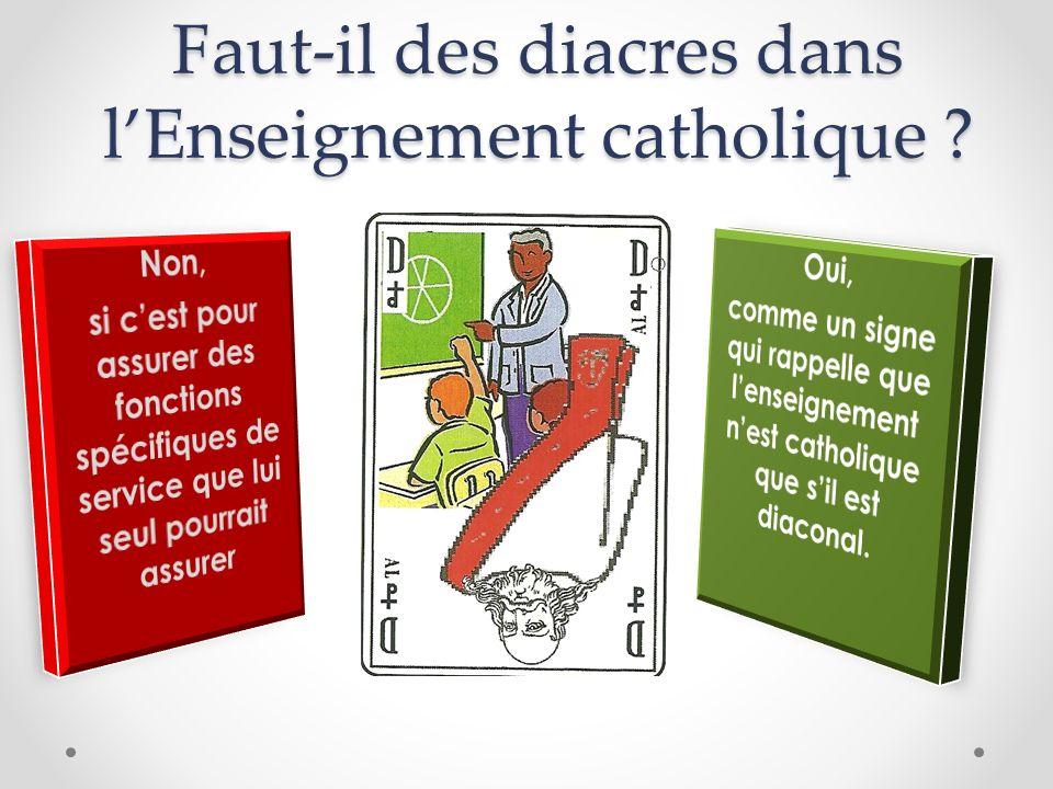 Faut-il des diacres dans lEnseignement catholique ?