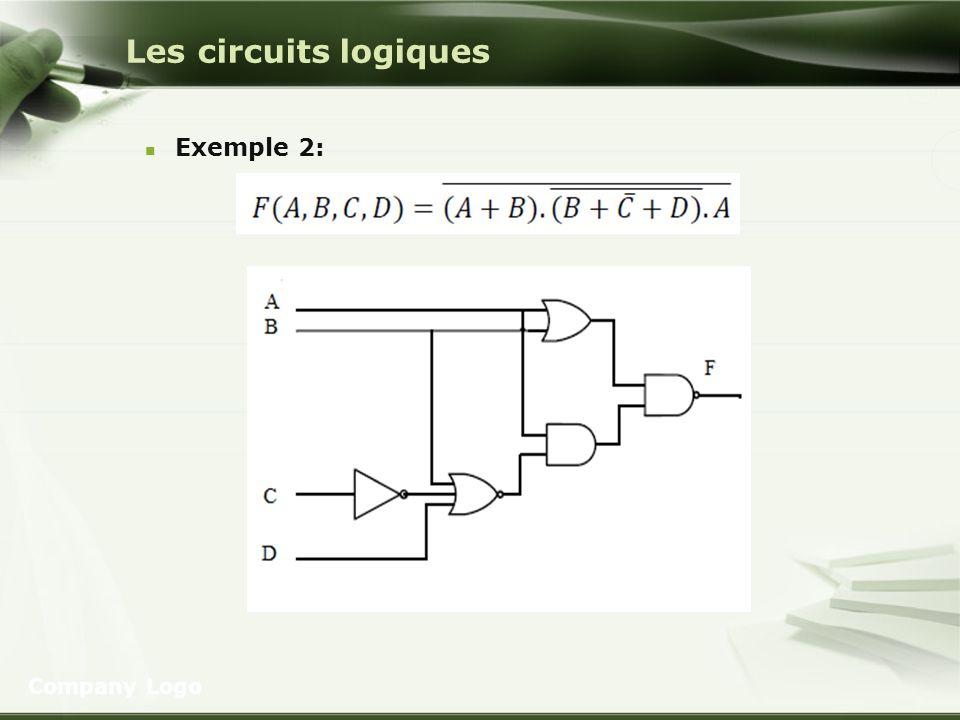 Les circuits logiques Exemple 2: Company Logo