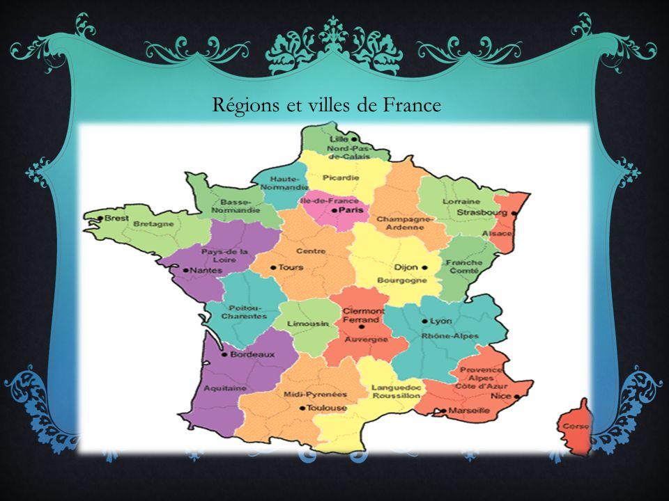 Régions et villes de France