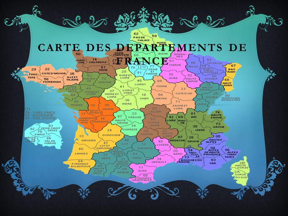 CARTE DES DEPARTEMENTS DE FRANCE