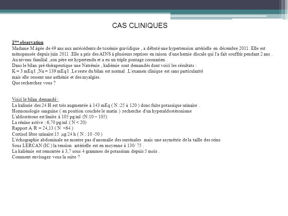 CAS CLINIQUES à lendroit !!.