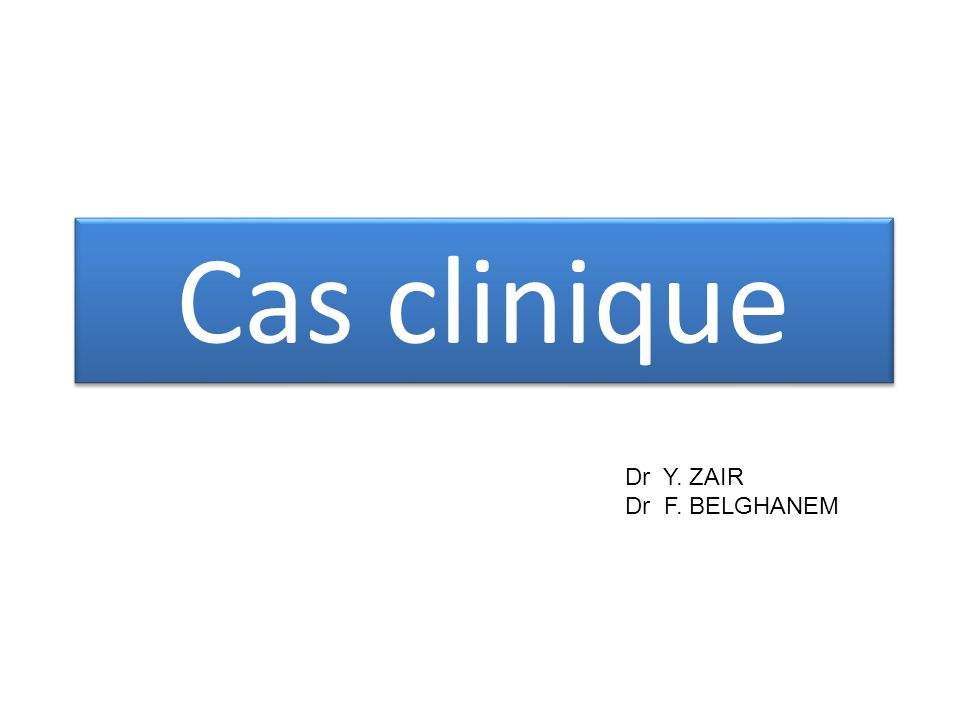 Quel est le diagnostic le plus probable ?