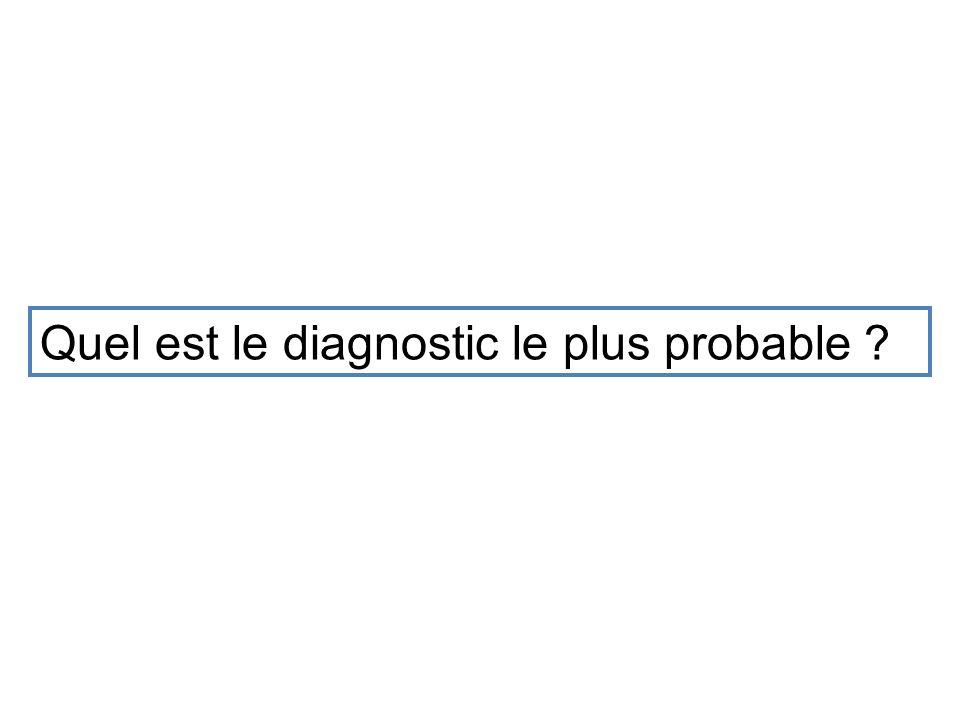 Quel est le diagnostic le plus probable ?