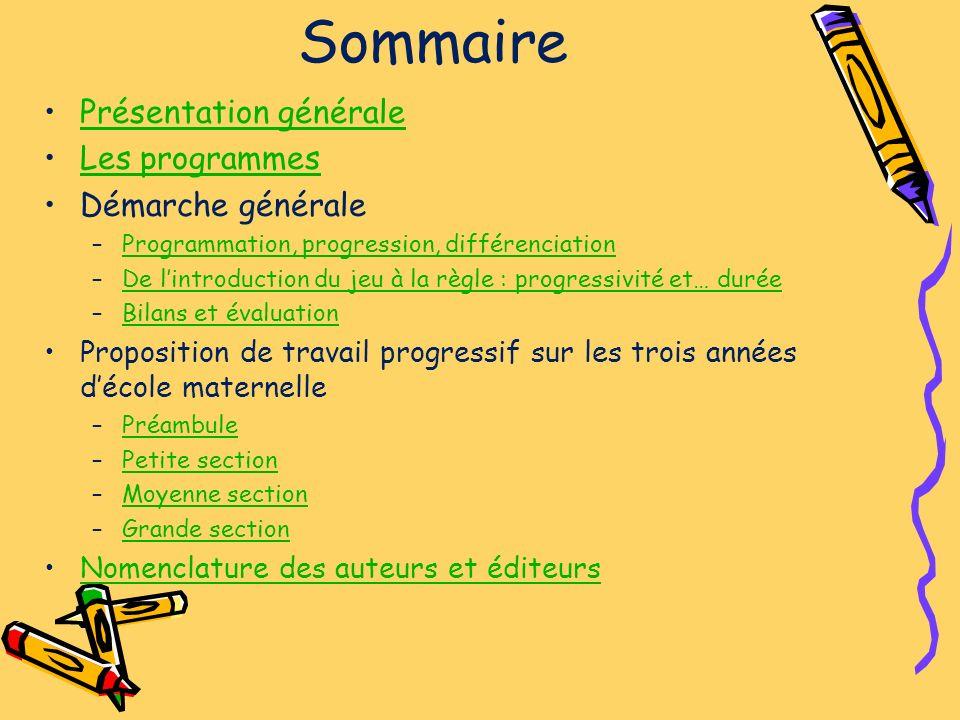 Présentation générale Les jeux mathématiques présentés ici sont des propositions, des exemples qui peuvent être proposés en maternelle.