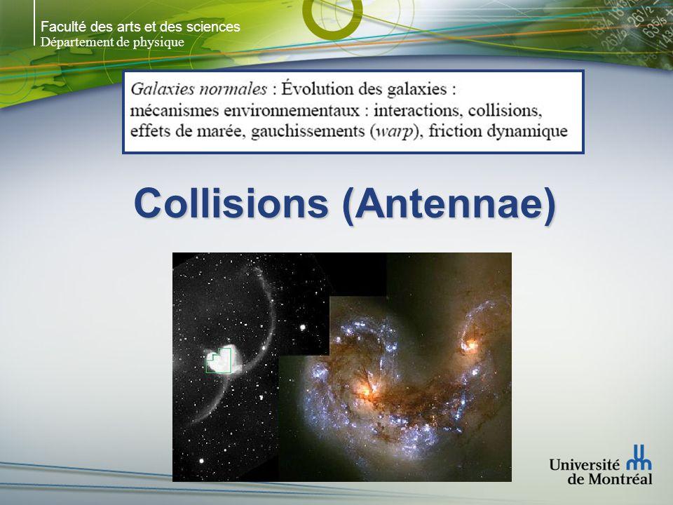 Faculté des arts et des sciences Département de physique Galaxies distantes