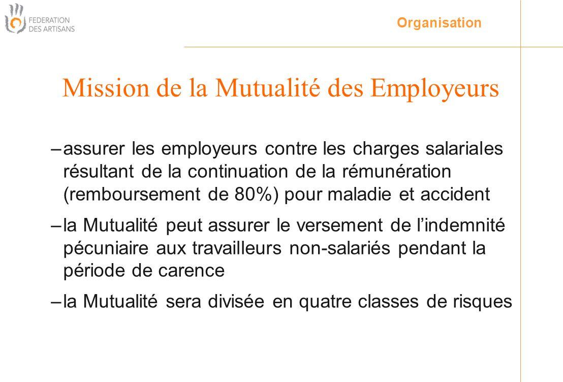 –assurer les employeurs contre les charges salariales résultant de la continuation de la rémunération (remboursement de 80%) pour maladie et accident