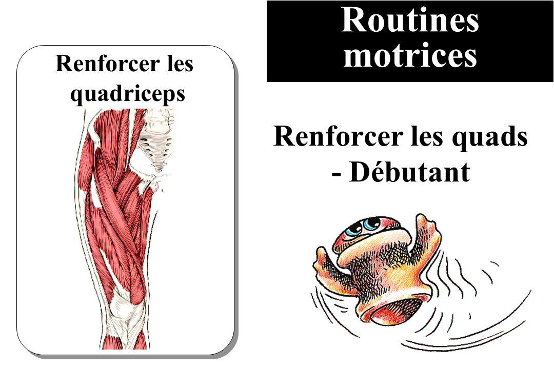 Routines motrices Renforcer les quadriceps Renforcer les quads - Débutant