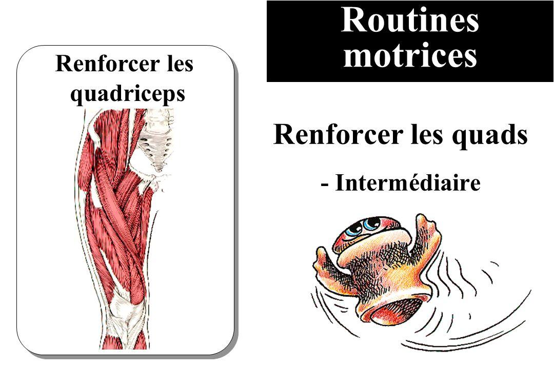 Routines motrices Renforcer les quadriceps Renforcer les quads - Intermédiaire
