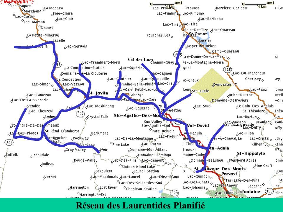 St-Donat St^Marguerite Val-des-Lacs Réseau des Laurentides Planifié