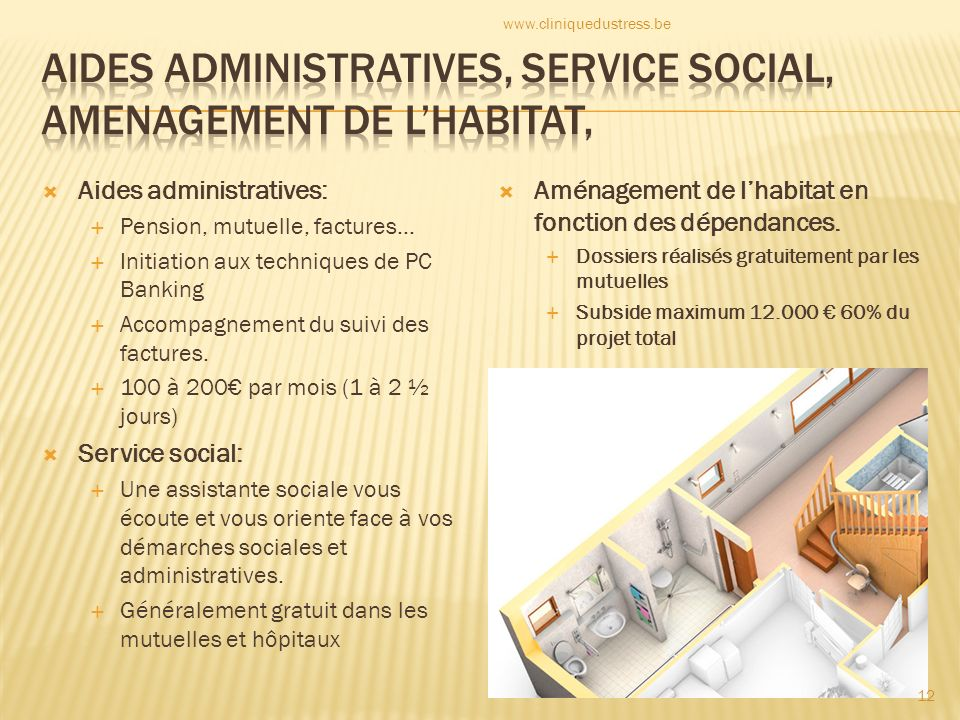 Aides administratives: Pension, mutuelle, factures… Initiation aux techniques de PC Banking Accompagnement du suivi des factures.