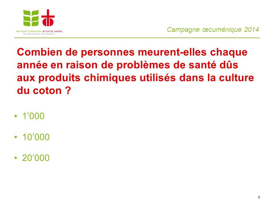 Campagne œcuménique 2014 15 Acheter peu dhabits, mais privilégier la qualité .