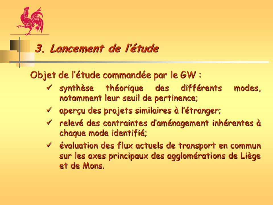 3. Lancement de létude Objet de létude commandée par le GW : synthèse théorique des différents modes, notamment leur seuil de pertinence; synthèse thé