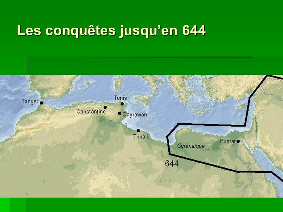 Les conquêtes jusquen 644