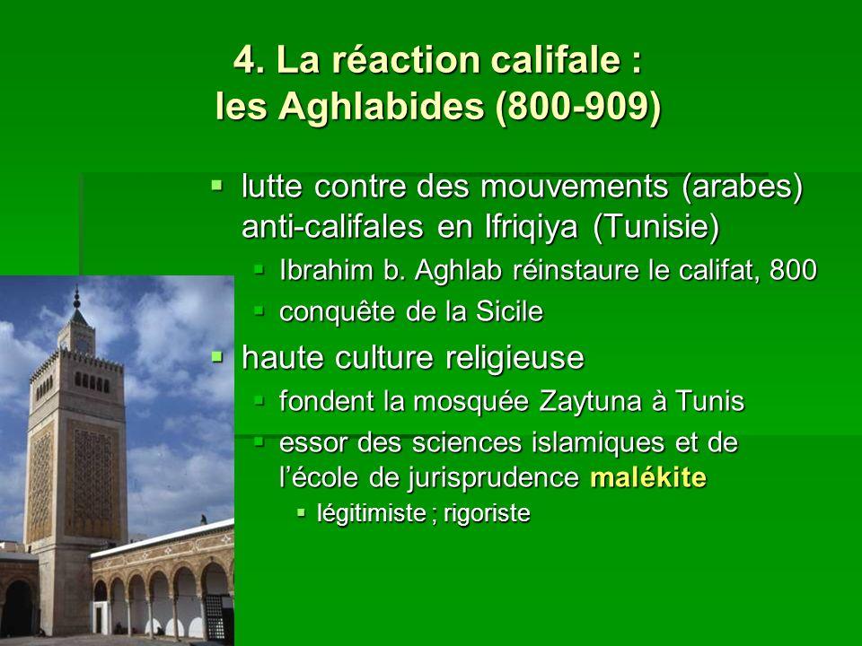 4. La réaction califale : les Aghlabides (800-909) lutte contre des mouvements (arabes) anti-califales en Ifriqiya (Tunisie) lutte contre des mouvemen