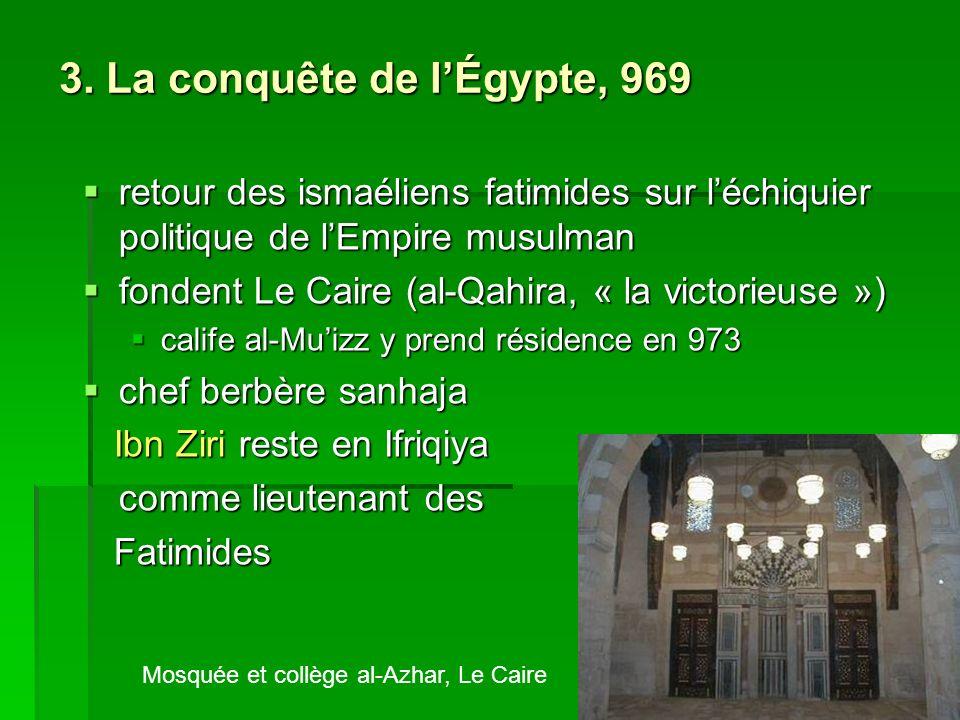 3. La conquête de lÉgypte, 969 retour des ismaéliens fatimides sur léchiquier politique de lEmpire musulman retour des ismaéliens fatimides sur léchiq