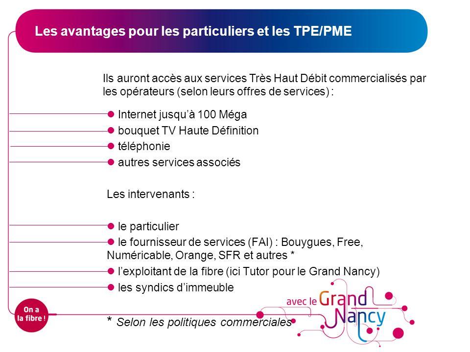 Internet jusquà 100 Méga bouquet TV Haute Définition téléphonie autres services associés Les intervenants : le particulier le fournisseur de services