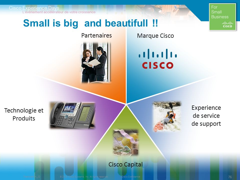 © 2009 Cisco Systems, Inc. All rights reserved.Cisco ConfidentialPresentation_ID 76 Experience de service de support Cisco Capital Partenaires Technol