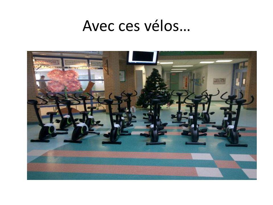 Avec ces vélos…