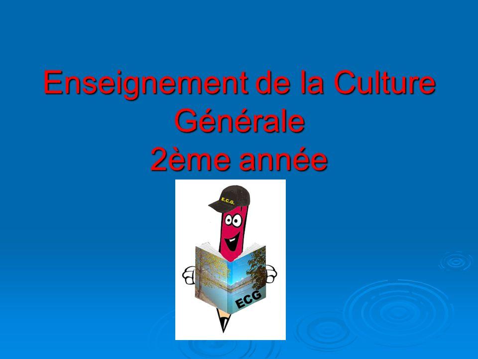 Enseignement de la Culture Générale 2ème année