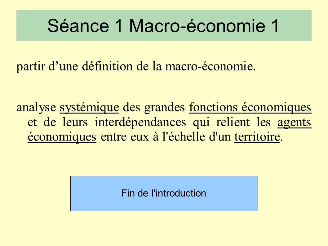 partir dune définition de la macro-économie.