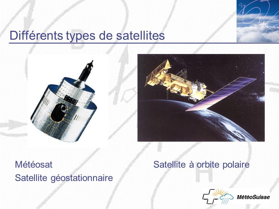 Satellite polaire, images infrarouge Mesure du rayonnement infrarouge Blanc = froid = nuages élevés Nuages bas et sol se confondent (même température)