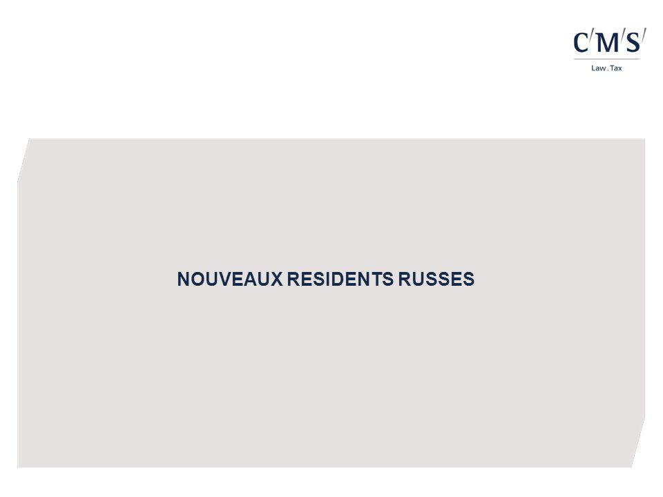 NOUVEAUX RESIDENTS RUSSES