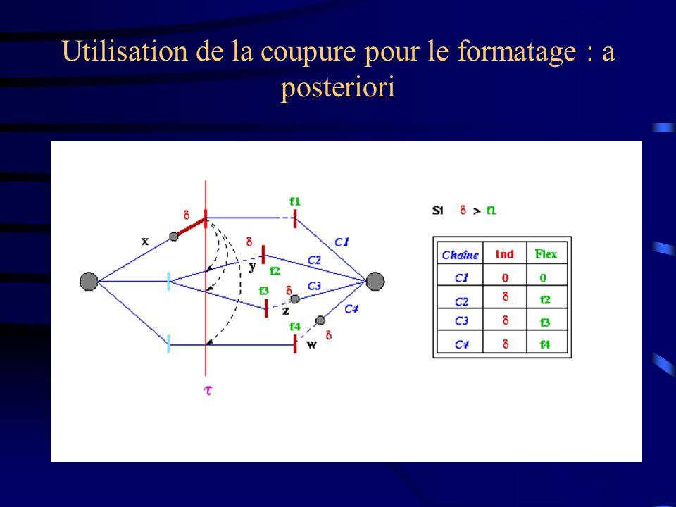 Utilisation de la coupure pour le formatage : a posteriori