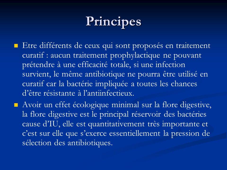 Principes Etre différents de ceux qui sont proposés en traitement curatif : aucun traitement prophylactique ne pouvant prétendre à une efficacité tota