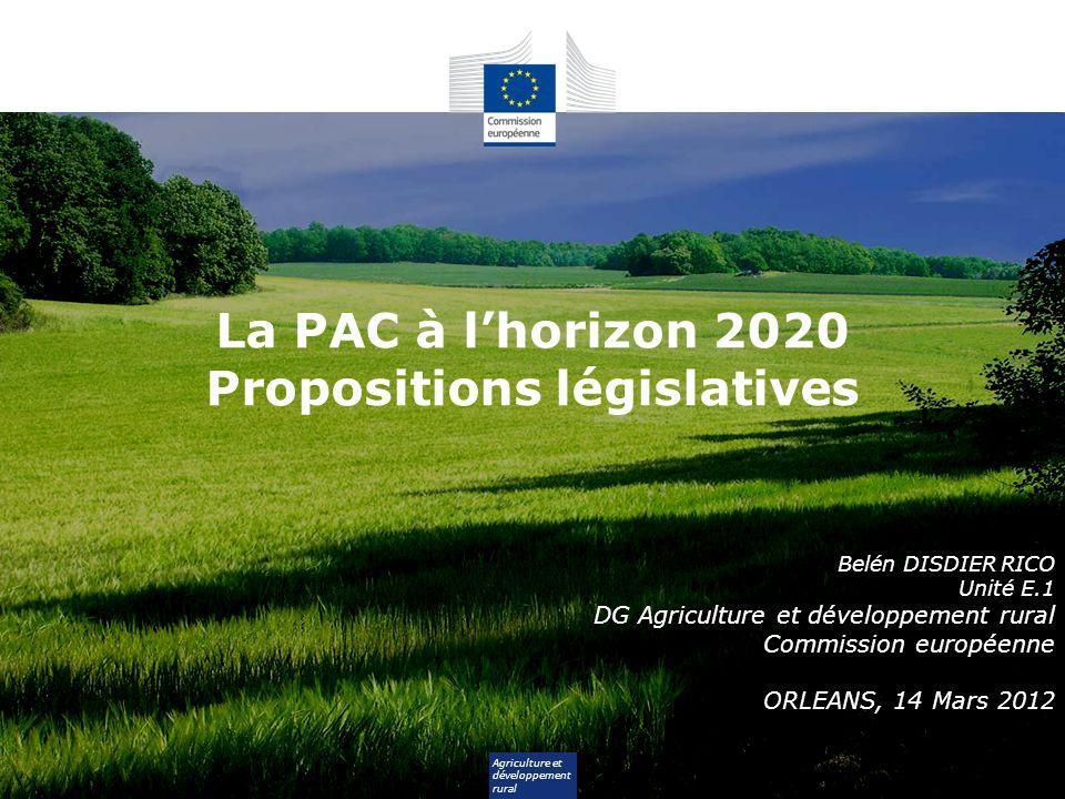 2 Plan de lexposé 1.Processus de réforme de la PAC 2.