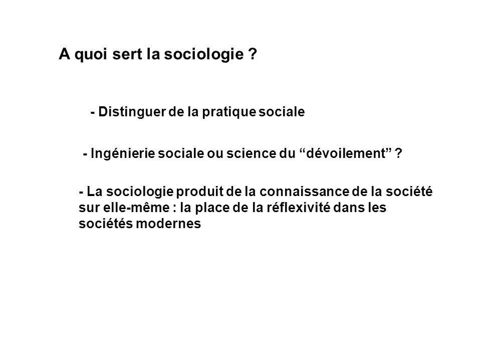 A quoi sert la sociologie .