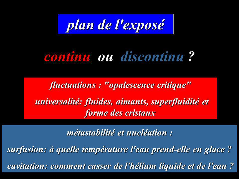plan de l'exposé fluctuations :