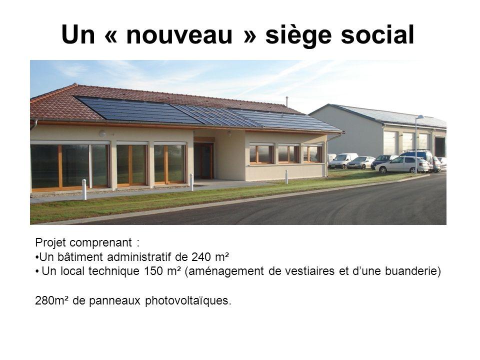 Un « nouveau » siège social Projet comprenant : Un bâtiment administratif de 240 m² Un local technique 150 m² (aménagement de vestiaires et dune buand